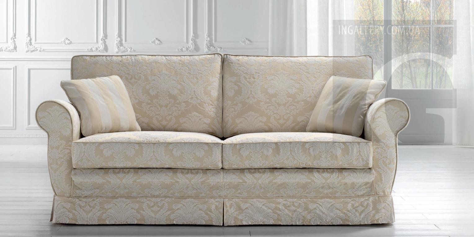 Классический тканевый 2 х местный диван фото